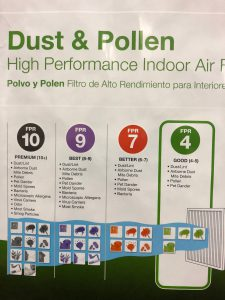 air filter rating system