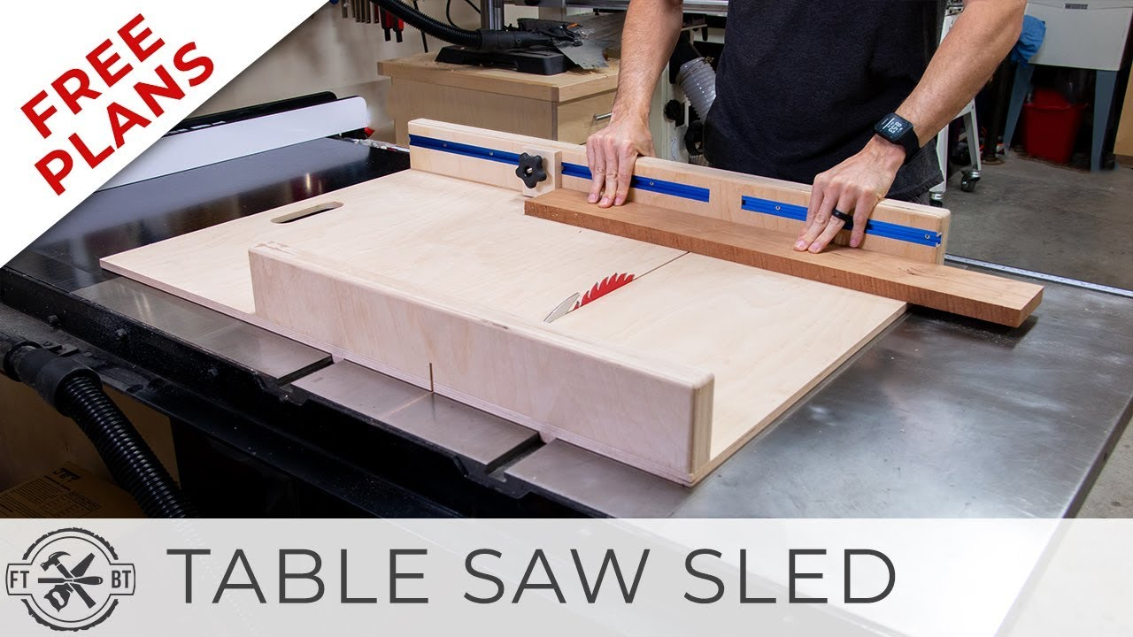 Simple-Table-Saw-Sled-with-FREE-Plans-DIY-Woodworking