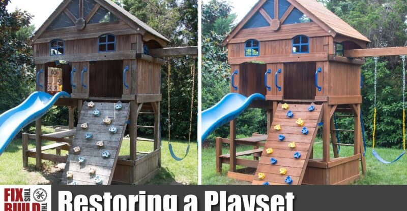 How-to-Restore-an-Old-Wooden-Playset-Swing-Set-Restoration