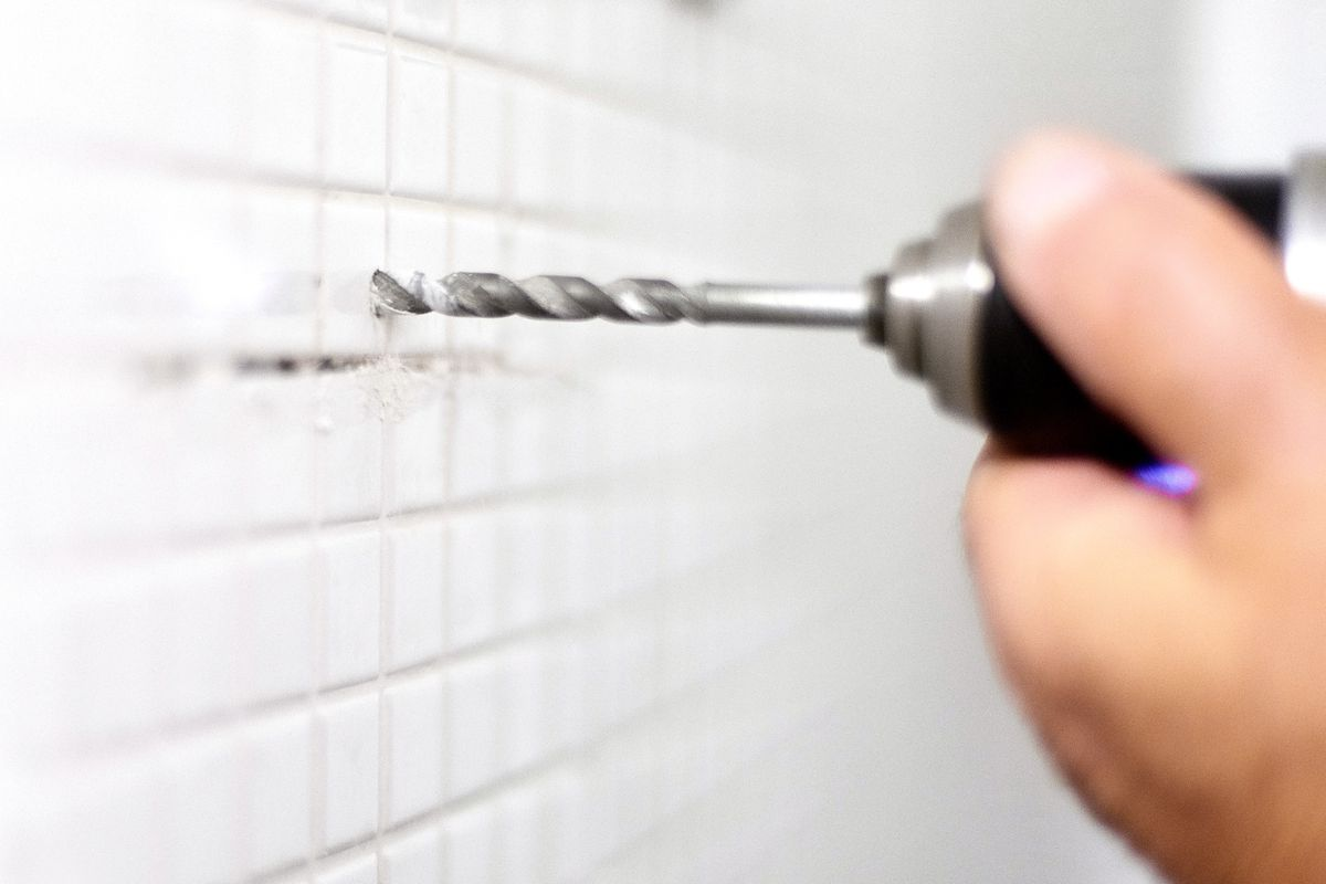how to drill through tile